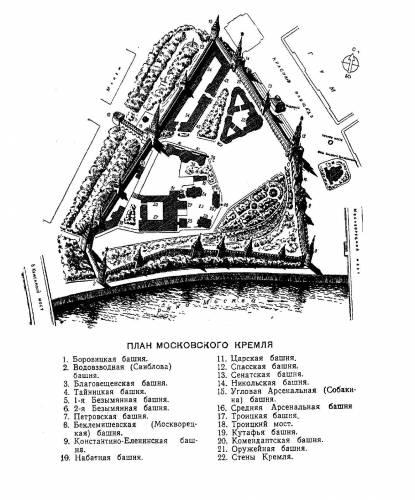 Московский Кремль план