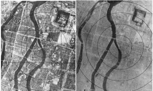 Хиросима до и после атомной бомбардировки