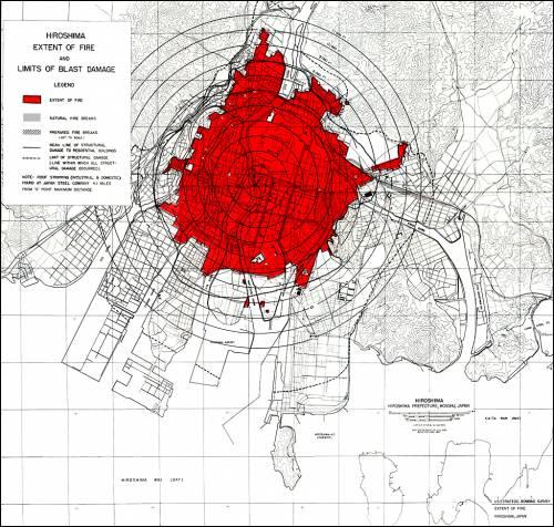 Хиросима пожары после атомной бомбардировки