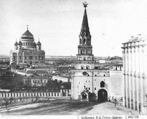 Москва 1860-е храм Христа Спасителя вид из Кремля
