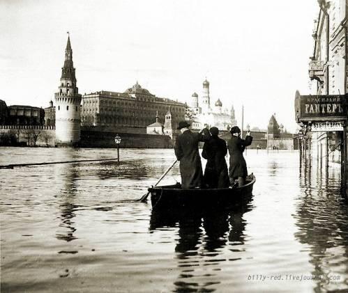 Москва 1908 года наводнение 11 апреля