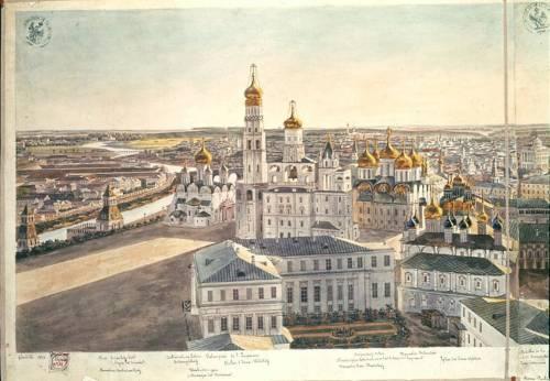 Москва литография по рисунку Кадоля Gadolle